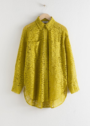 And other stories Relaxed Floral Lace Shirt
