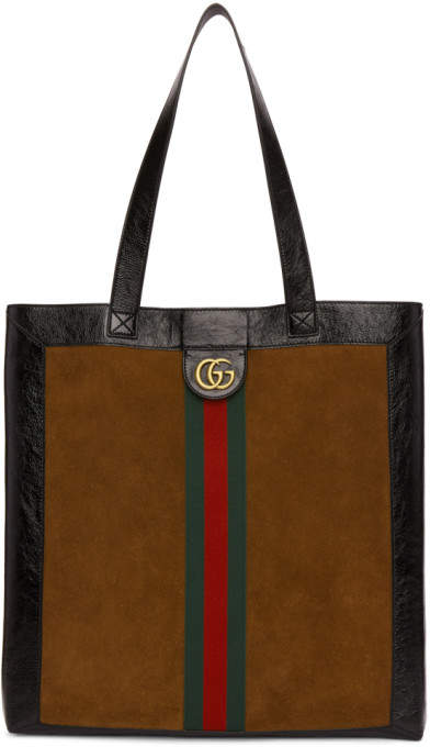 Gucci Brown Suede GG Tote