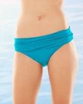 Soma Intimates Shirred Hipster Swim Bottom Teal
