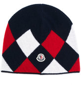 Moncler argyle beanie hat - women - Virgin Wool - One Size