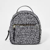 Art Class Girl' Quilted Mini Backpack - art claTM White/Black