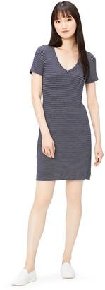 Daily Ritual Amazon Brand Women's Jersey Short-Sleeve V-Neck T-Shirt Dress