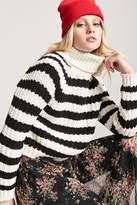 Forever 21 Stripe Turtleneck Sweater