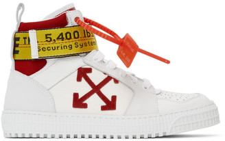 Off-White SSENSE Exclusive White Industrial High-Top Sneakers