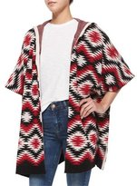 Alice + Olivia Henrietta Hooded Tribal-Print Topper Jacket