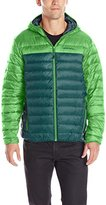 Hawke & Co Men's Colorblock Hooded Packable Down Puffer Jacket