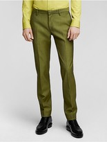 Calvin Klein Collection Bonded Wool Herringbone Slim Pant