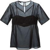 Alexander Wang bra insert sheer top - women - Cotton/Polyester - 4