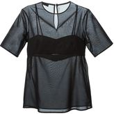 Alexander Wang bra insert sheer top
