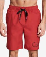 """Calvin Klein Men's Logo 19.5"""" Swim Trunks"""