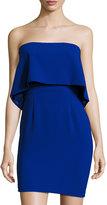 Jay Godfrey Strapless Popover Mini Dress, Cobalt