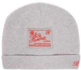 Raf Simons Heroes-embroidered Wool-blend Beanie Hat - Womens - Grey