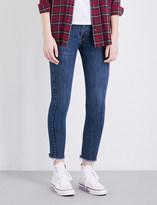 RE/DONE Frayed-hem skinny high-rise jeans