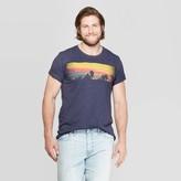Men's Tall Short Sleeve Sunset Beach Crew Neck Graphic T-Shirt - Goodfellow & CoTM Denim Heather