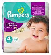 Pampers Active Fit Size 4 (Maxi) Essential Pack 39 Nappies - Pack of 2