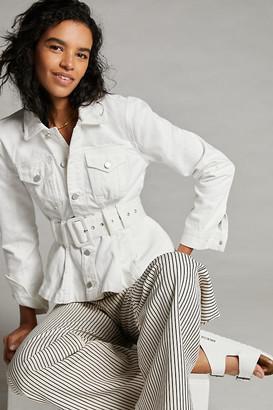 Blank NYC Sola Denim Trucker Jacket By in White Size XS