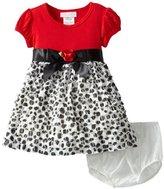 Bonnie Baby Baby-Girls Infant Eyelash Dot Dress