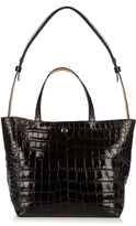 Elizabeth and James Eloise crocodile-effect leather tote