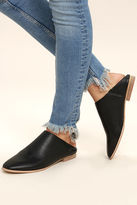 Chinese Laundry Owen Black Leather Mules