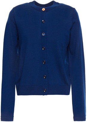 Paul Smith Pointelle-trimmed Neon Wool Cardigan