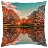 "iRocket - Mirror lake - Throw Pillow Cover (14"" x 14"", 35cm x 35cm)"