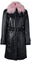 Moncler 'Noemie' coat - women - Cotton/Feather Down/Acrylic/Virgin Wool - 2