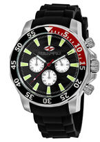 Seapro Sea-Pro Scuba Explorer Mens Black Strap Watch-Sp8332