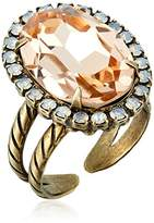 """Sorrelli Pink Peony"""" Classic Oval Cut Ring, Size 7-9"""
