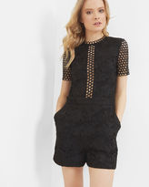 Ted Baker Guipure lace romper