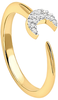 Missoma 18ct Gold Vermeil Eclipse Pave Moon Ring, Gold