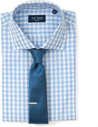 The Tie Bar Sky Blue Classic Gingham Non-Iron Shirt