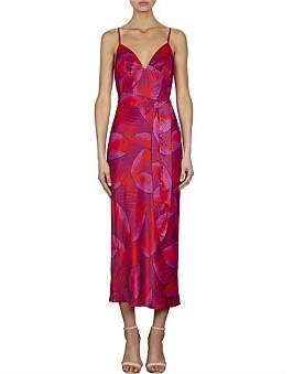 Shona Joy Phoenix Slip Dress W/Belt