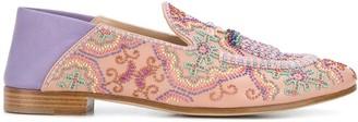 Fratelli Rossetti Beaded Slip-On Loafers