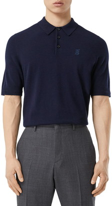 Burberry Burnham TB Monogram Short Sleeve Cashmere Polo