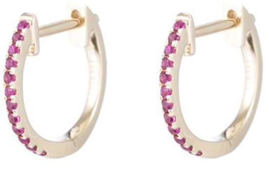 Ariel Gordon Ruby Pavé Huggies Earring