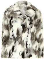 Dorothy Perkins DP Collection white and grey faux fur coat