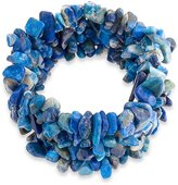Bling Jewelry Chunky Simulated Lapis Lazuli Chips Stretch Bracelet