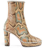 Gucci Python ankle boot with crystals