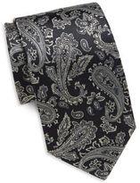 Saint Laurent Paisley Printed Italian Silk Tie