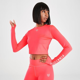 Women's Pink Soda Sport Nora Rib Long-Sleeve Fitness Top