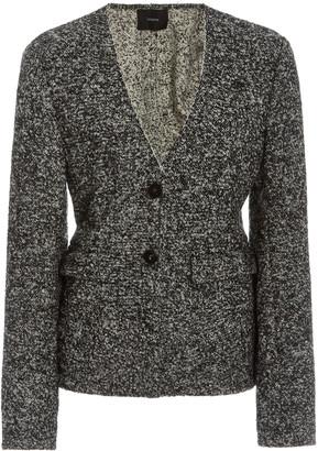 Joseph Jeranne Wool-Blend BouclA Tweed Blazer Top