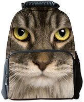 "Tricandide Children School Backpack Animal 3D print Laptop Daypacks 16"""