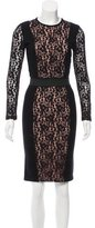 By Malene Birger Lace-Accented Cocktail Dress