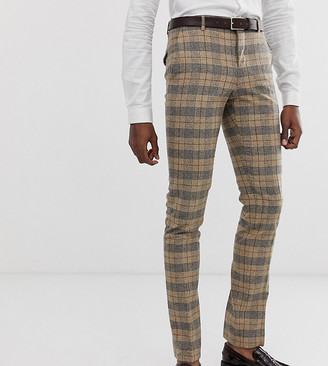 Twisted Tailor super skinny suit trousers in heritage check