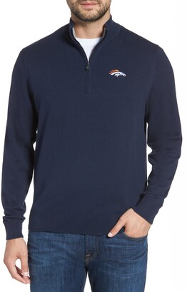 Cutter & Buck Denver Broncos - Lakemont Regular Fit Quarter Zip Sweater