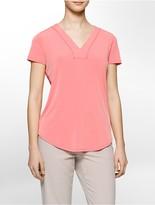 Calvin Klein Lace Back Short Sleeve Top