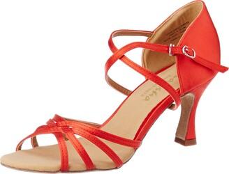 Sansha Ballr Ladies BR31007S Suede Red 13 M ROSA