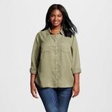 Merona Women's Plus Size Favorite Shirt Healthy Green