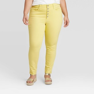 Universal Thread Women's Plus Size High-Rise Skinny Jeans - Universal ThreadTM Lemon Grass