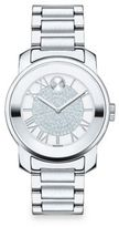 Movado Bold Luxe Crystal & Stainless Steel Bracelet Watch